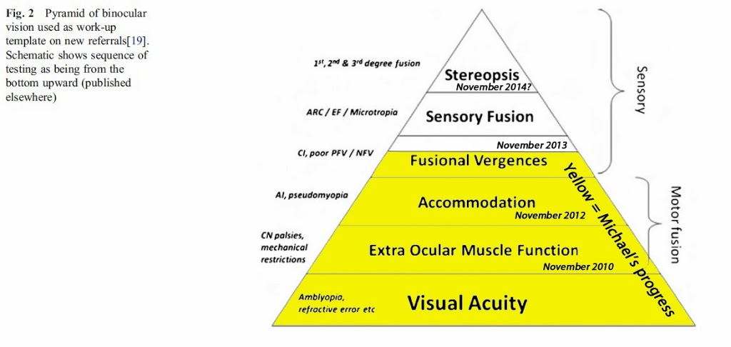 Vision therapy progress in numbers and charts