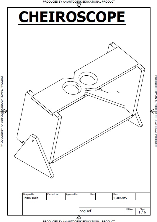 Free blueprints for making your own cheiroscope